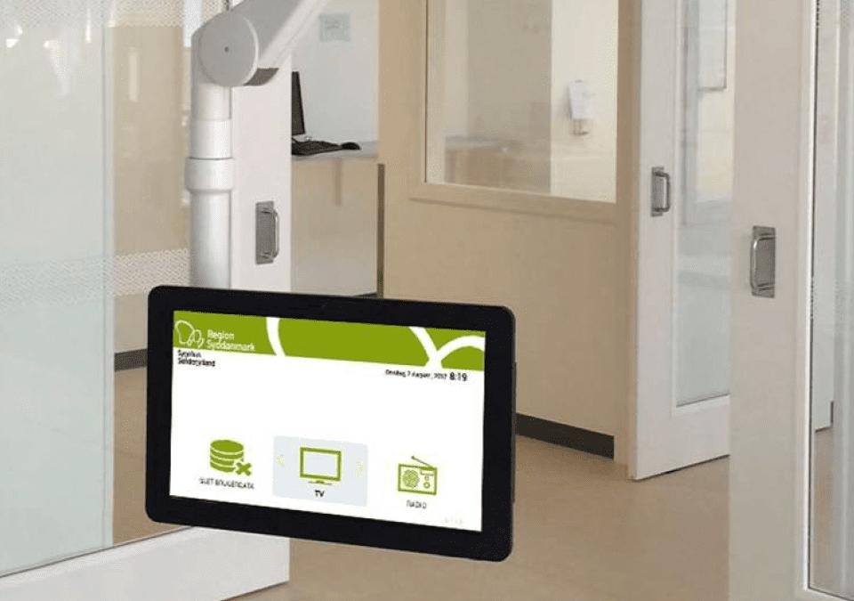 FlexCare TV løsning nu også i tablet format til Region Syd